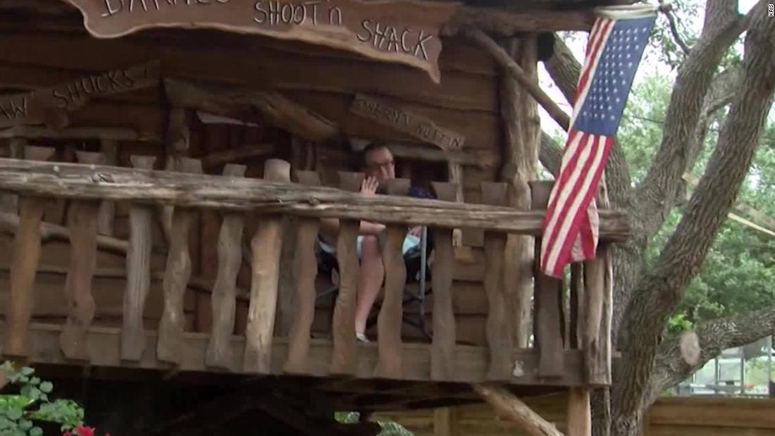ER doctor sleeping in treehouse to protect family