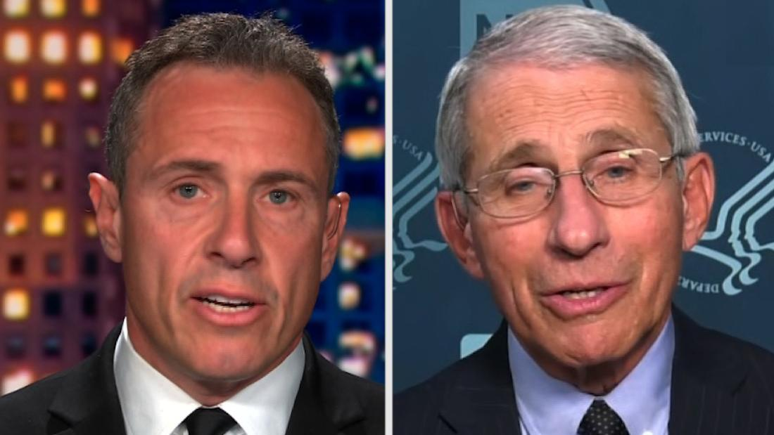 Dr. Fauci weighs in on Cuomo working while having coronavirus