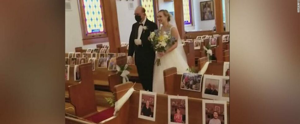 Photos of their liked ones in the bench assisted them feel the love at their wedding event