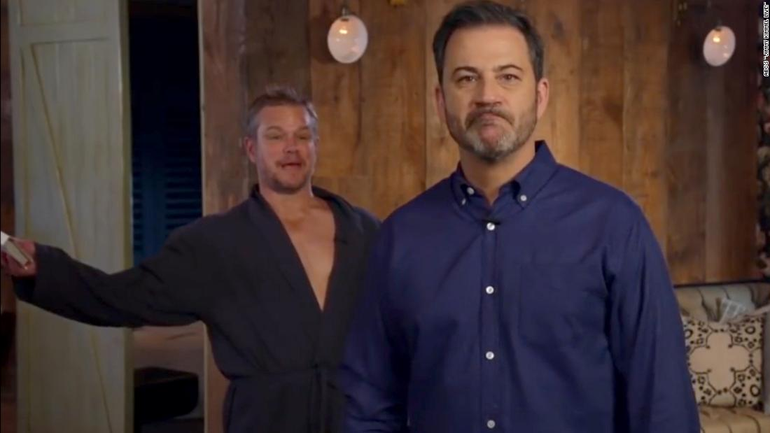 Matt Damon doesn't approve of Jimmy Kimmel's hiatus